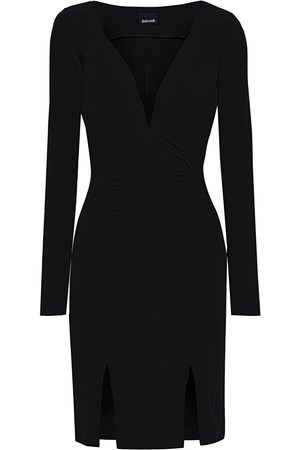 Roberto Cavalli Woman Ruched Jersey Mini Dress Size 38