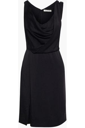 Halston Heritage Woman Cutout Draped Satin Mini Dress Size 0