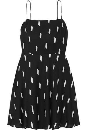 ALICE+OLIVIA Woman Glinda Printed Crepe Mini Dress Size 12