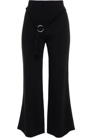 Cinq A Sept Woman Belted Stretch-cady Kick-flare Pants Size 10