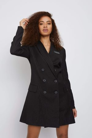 Whyte Studio THE TRIAL PINSTRIPE SUIT BLAZER DRESS