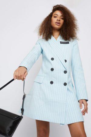 Whyte Studio Women Work Dresses - THE TRIAL PINSTRIPE SUIT BLAZER DRESS