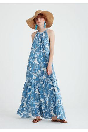 Paisie Women Maxi Dresses - Floral Halterneck Maxi Dress