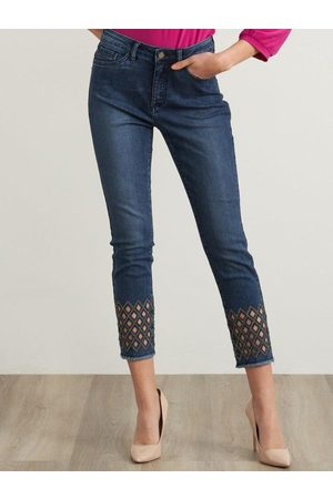 Joseph Ribkoff Jean With Cut Out Detail 211967 3699