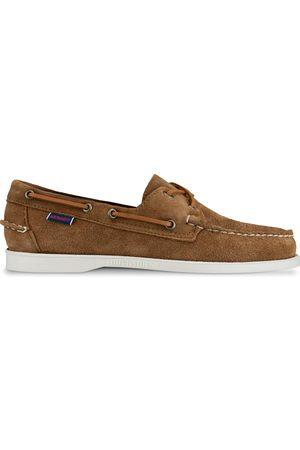 SEBAGO Docksides Portland Suede Shoes - Cognac