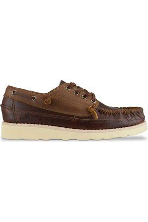 SEBAGO Women Loafers - Campsides Seneca Leather Moccasin Shoes - Cinnamon