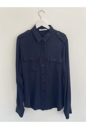 Caractere Women T-shirts - Silk Shirt in Navy 5299A01425