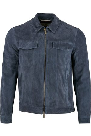 CANALI Men Leather Jackets - Suede Bomber