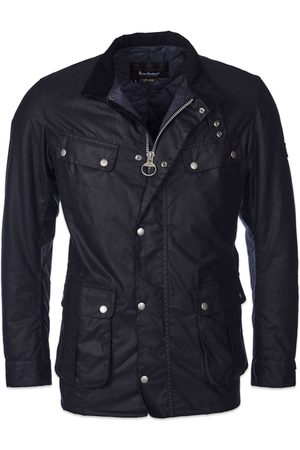Barbour Women Outdoor Jackets - Duke Wax Jacket - Navy