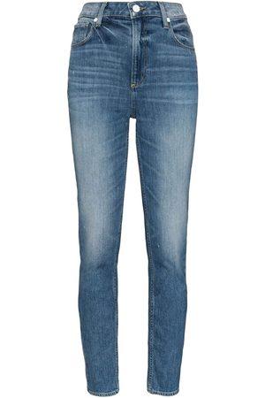 Paige Sarah Slim High Rise Slim Leg Jeans - Embarcadero