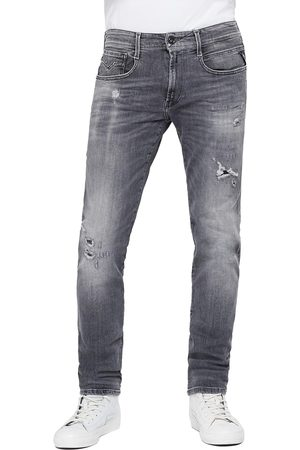 Replay Anbass Slim Jeans - 10 Year Aged Rip & Repair