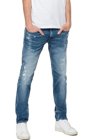 Replay Women Slim - Anbass Slim Fit Jeans - Aged Eco 10 Year Mid Rip & Repair