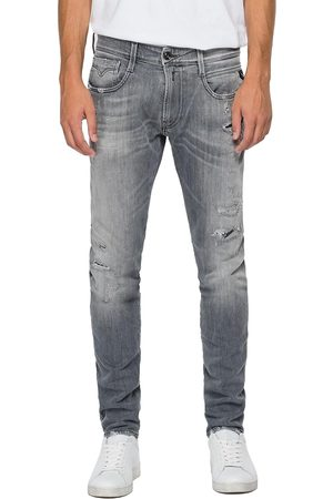 Replay Women Slim - Anbass Slim Jeans - Aged Eco 10 Year Rip & Repair