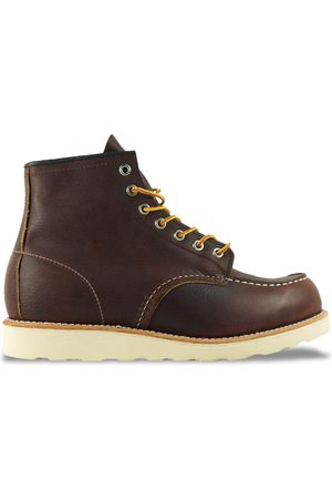 """Red Wing Women Boots - 8138 6"""" Moc Toe Leather Boot - Briar Oil Slick"""