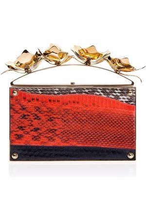 THALÈ BLANC Women Clutches - Golden Orchid Evening Bag: Designer Clutch