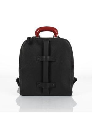 Brixton unisex leather backpack