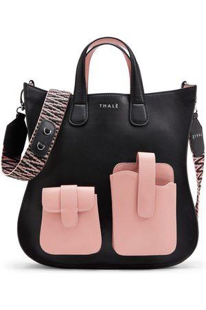 THALÈ BLANC Gisele Medium Tote: Designer Tote Bag in Pink & Leather