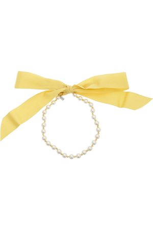 Moschino Women Necklaces - Bow Ribbon Pearl Necklace