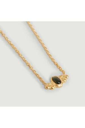Monsieur Women Necklaces - Tourmaline Lila necklace Vermeil tourmaline verte