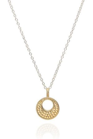 Anna Beck Women Necklaces - Small Open Disc Dotted Pendant