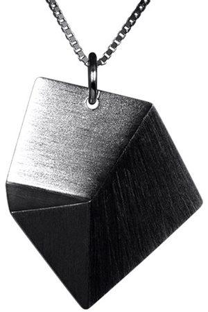 Sofie Lunoe Flake Medium Oxidized Pendant with Short Chain