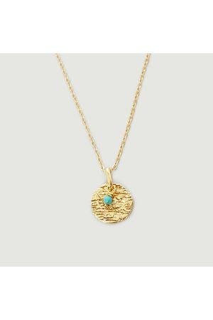 Monsieur Women Necklaces - Turquoise Rift Necklace Silver-gilt