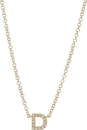 EF Collection Women Necklaces - Diamond Initial D Necklace