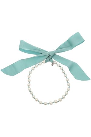 Moschino Bow Ribbon Pearl Necklace