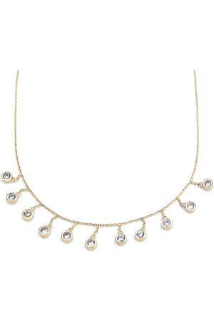 BONDEYE JEWELRY Droplet White Sapphire Necklace