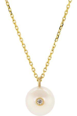 Kat Kim Women Necklaces - Diamond Oasis Pearl Necklace