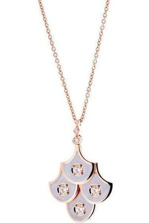 SELIM MOUZANNAR Women Necklaces - Diamond and Lilac Enamel Fish Scale Pendant Necklace