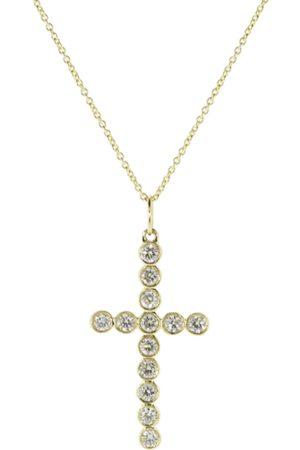 Sydney Evan Women Necklaces - Medium Bezel Cross Necklace