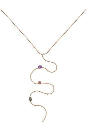 Mattia Cielo Amethyst Tourmaline and Diamond Y Necklace