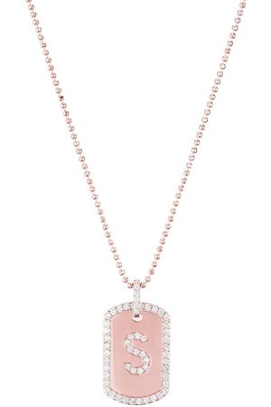CARBON & HYDE Women Necklaces - Initial Dogtag Necklace - Rose Gold