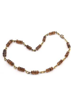 Sylva & Cie Women Necklaces - Honey Opal Faceted Necklace