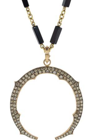 Sylva & Cie Women Necklaces - Champagne Diamond Horse Shoe Pendant