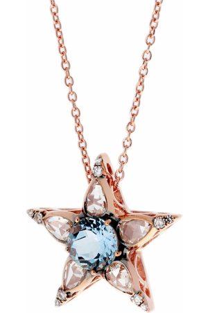 SELIM MOUZANNAR Diamond and Aquamarine Star Pendant