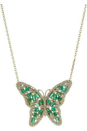 Suzanne Kalan Medium Emerald Butterfly Necklace