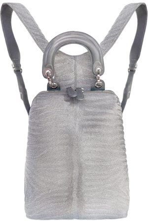 THALÈ BLANC Women Purses & Wallets - Racer Haircalf Mini Leather Backpack