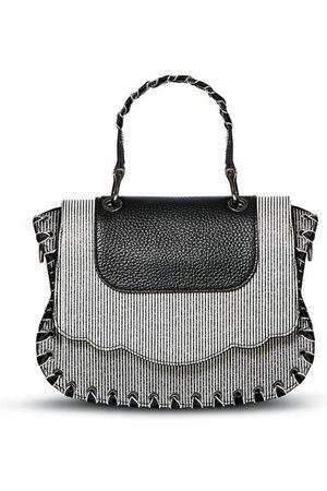 THALÈ BLANC Women Purses & Wallets - Audrey Crossbody: Luxury Crossbody Bag, Black/White Striped
