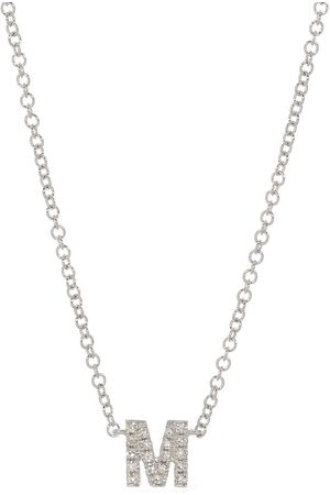 EF Collection Diamond Initial M Necklace