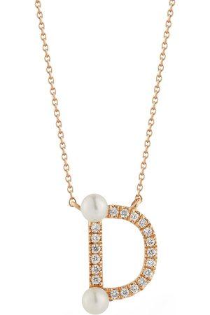 Dana Rebecca Designs Pearl Ivy Initial D Necklace