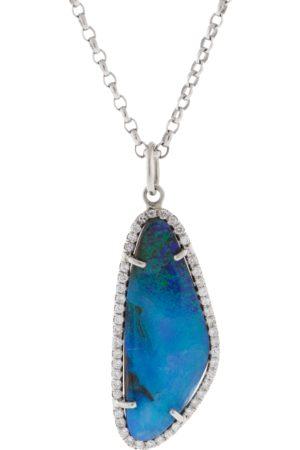 IRENE NEUWIRTH JEWELRY Boulder Opal And Diamond Pendant