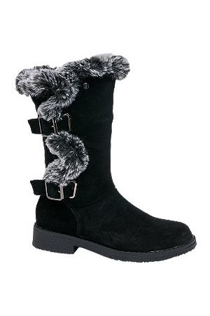 Hush Puppies Women Boots - Suede Fur Detail Boots