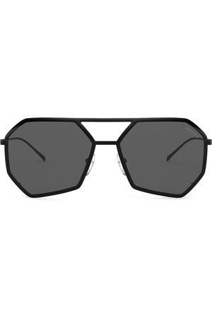 Prada Logo-embossed heptagon-frame sunglasses