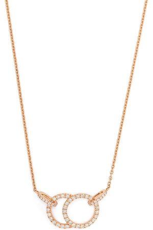 Courbet 18kt rose gold diamond pavé setting Celeste necklace