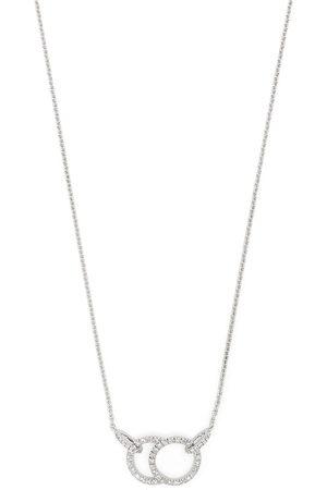 Courbet Women Necklaces - 18kt white gold Celeste diamond pavé hanging necklace