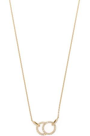 Courbet Women Necklaces - 18kt yellow Celeste diamond pavé hanging necklace