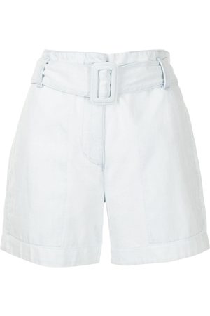 PROENZA SCHOULER WHITE LABEL Women Shorts - High-waisted belted shorts