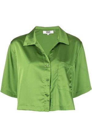 Apparis Short sleeve satin shirt
